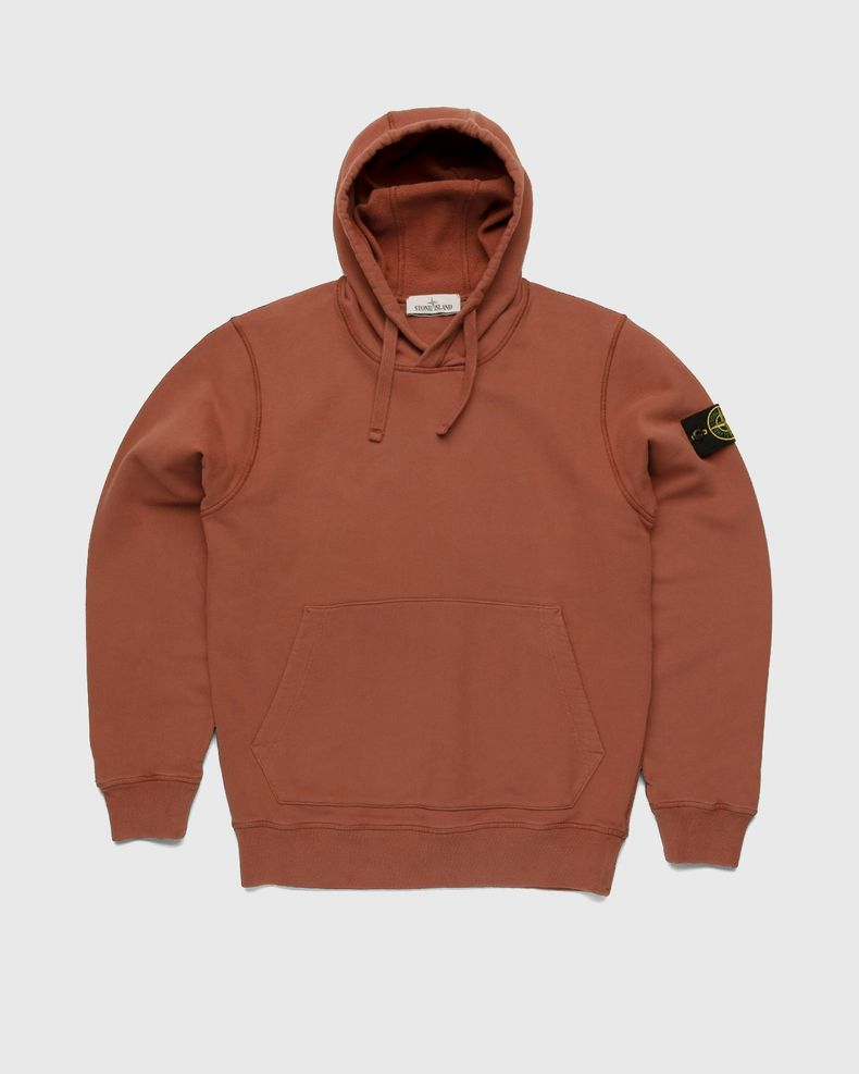 Stone Island – Dust Color Treatment Hoodie Brick Red