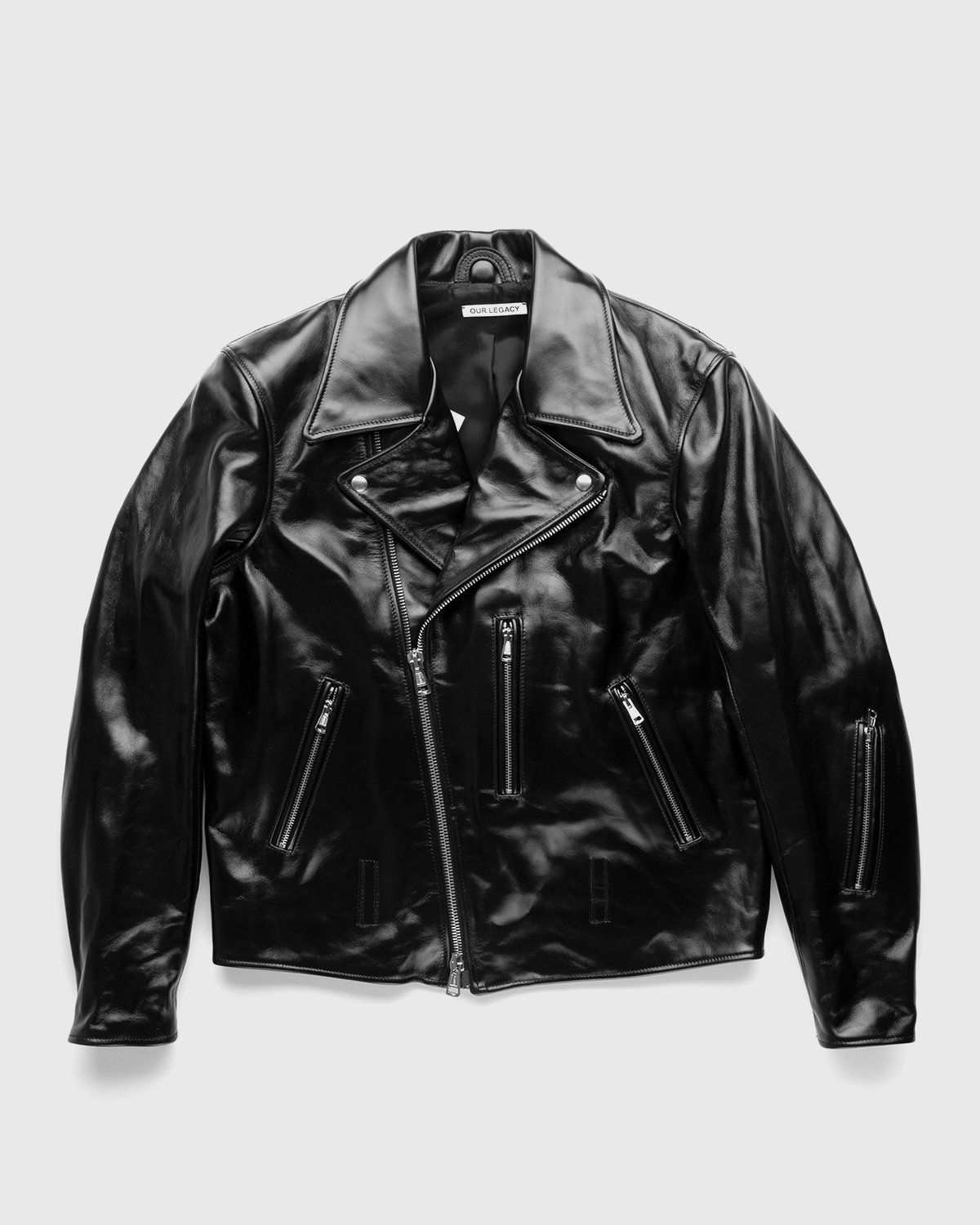 Our Legacy – Hellraiser Leather Jacket Aamon Black - Image 1