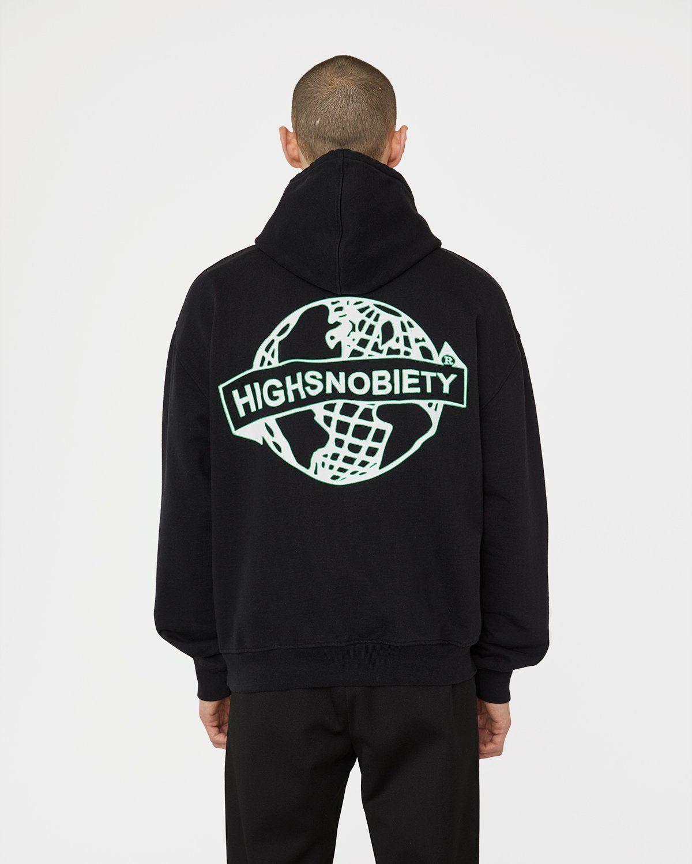 Highsnobiety x L'AS du FALLAFEL - Logo Hoodie Black - Image 4