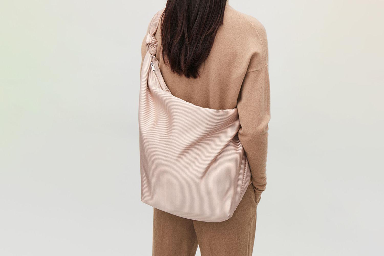 Large Plisse Shoulder Bag