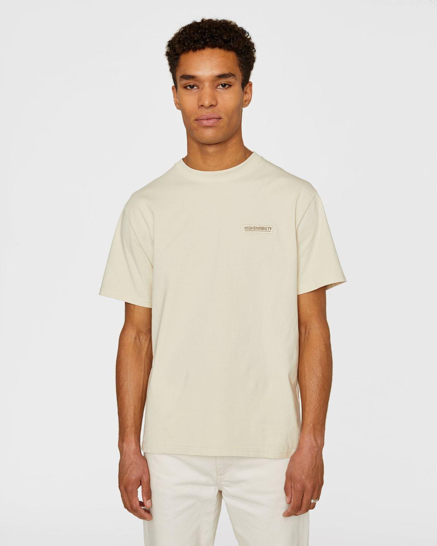 Highsnobiety Staples - T-Shirt Eggshell - Image 2