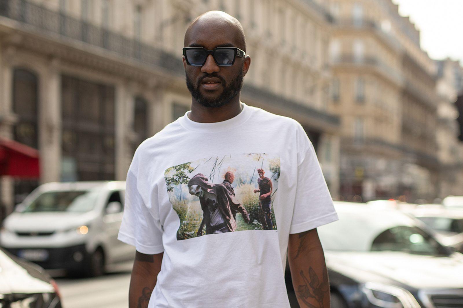 Virgil Abloh white T-shirt sunglasses