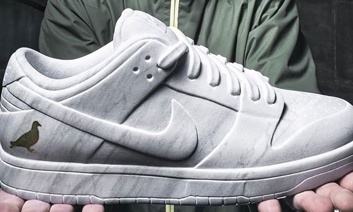 """Nike SB Dunk Low """"Pigeon"""" Marble Sculpture"""
