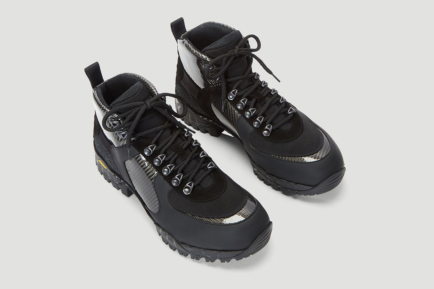 Vibram Sole Hiking Boots in Black