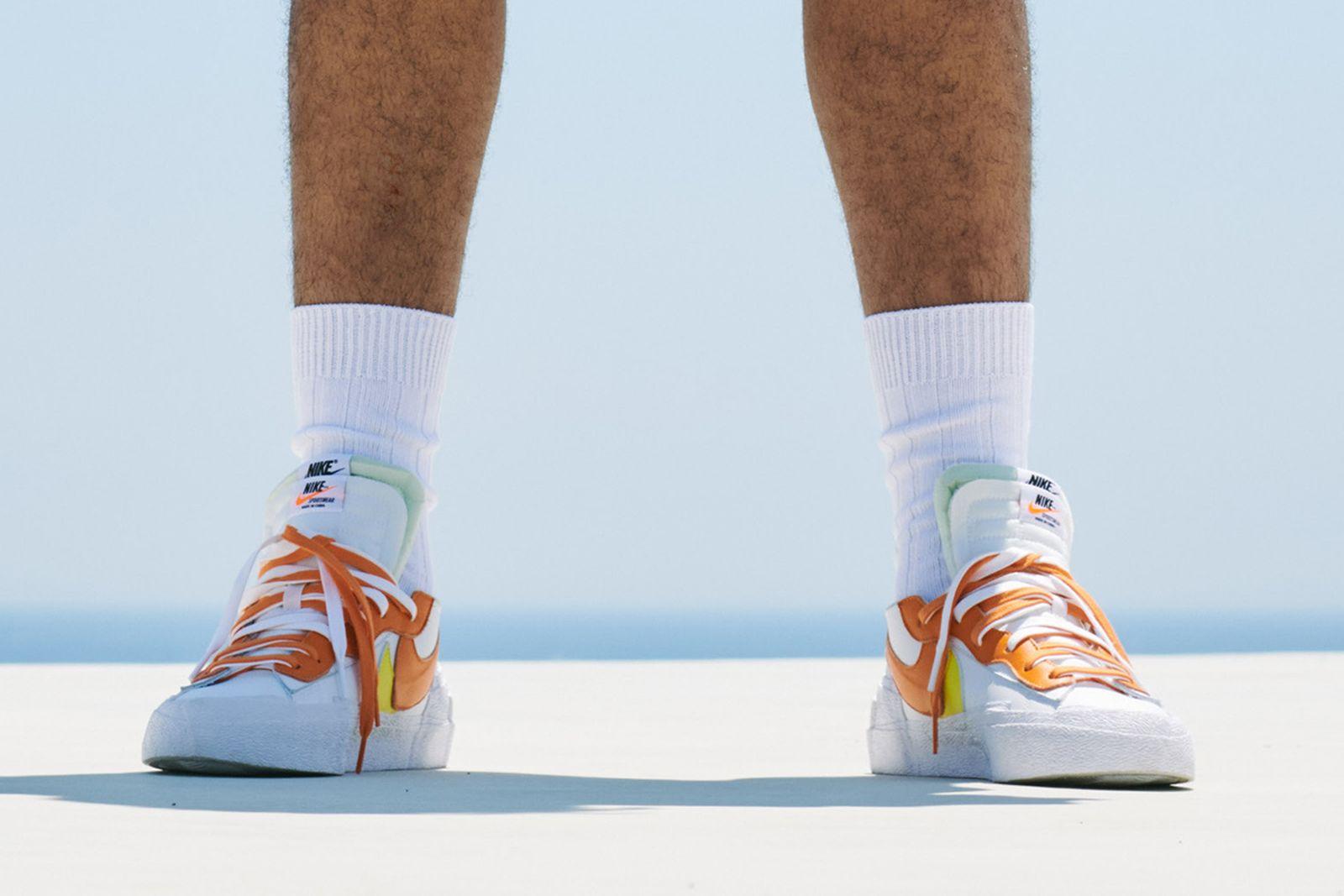 sacai x nike blazer low preview orange colorway