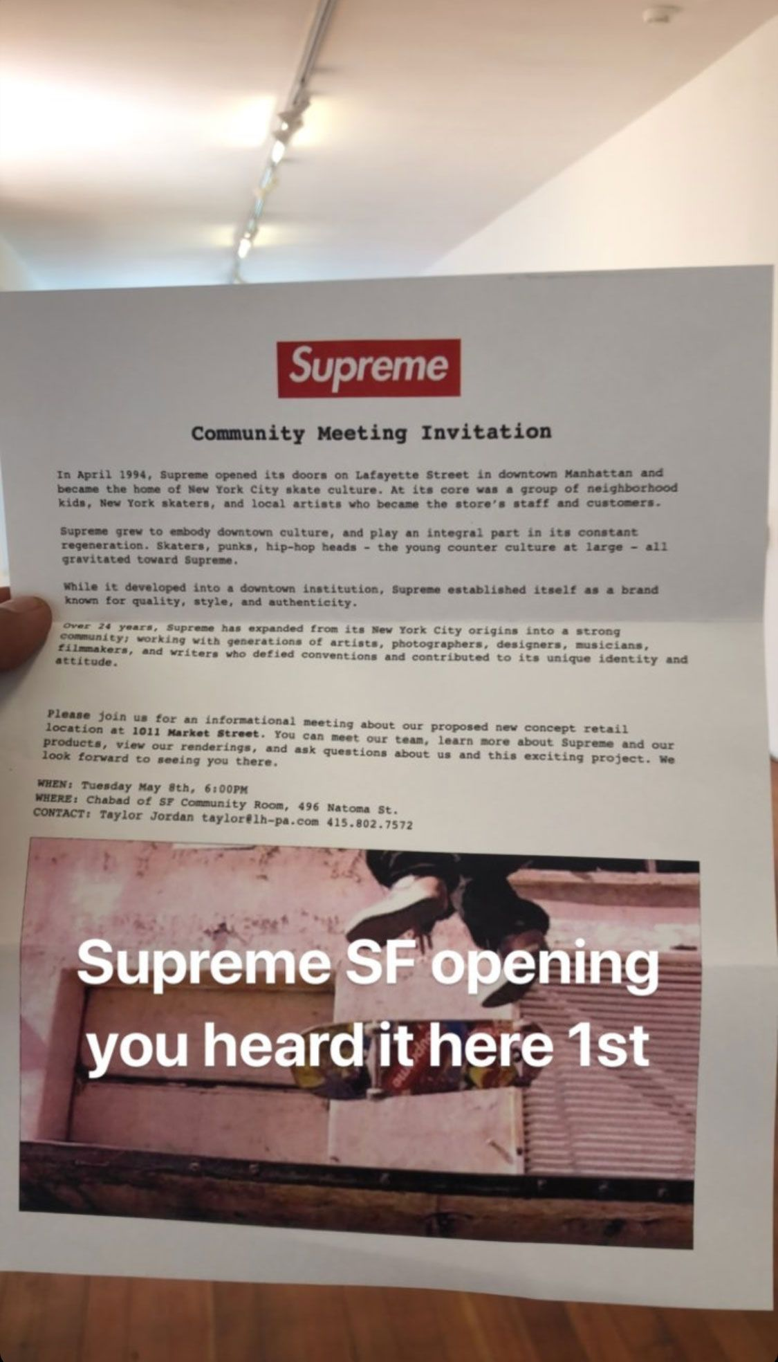 6d5fefb91b Supreme's Next Retail Store Might Be In San Francisco