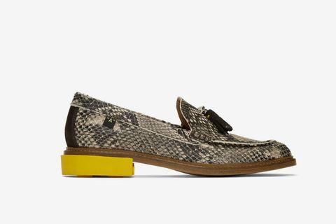 Python Tassel Loafers