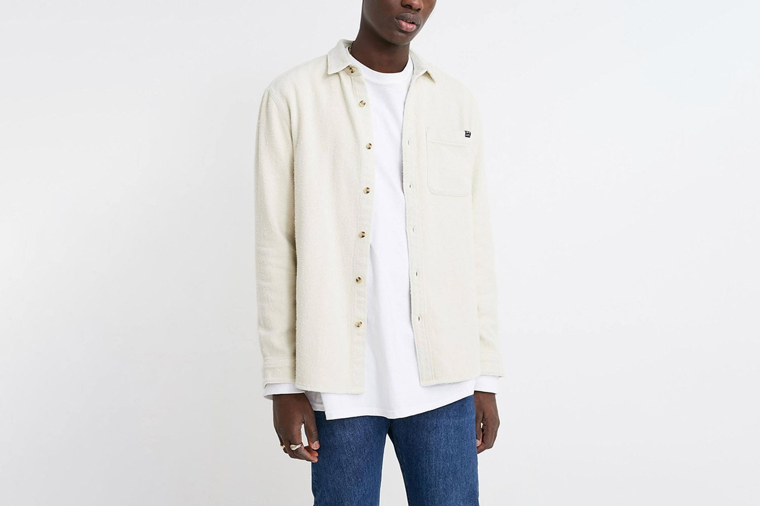 Heavyweight Brushed Twill Button-Down Shirt