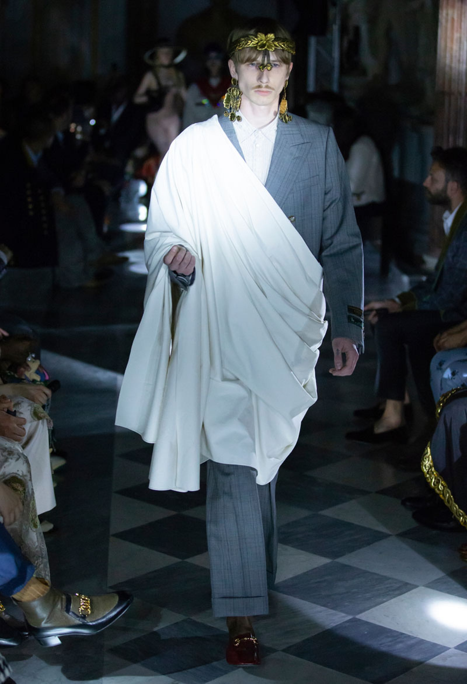 64gucci cruise 2020 runway Alessandro Michele asap rocky harry styles