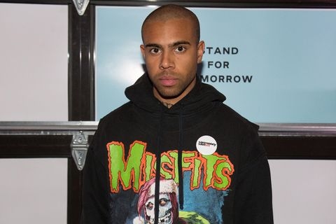 Vic Mensa attends End Gun Violence Together Rally at Union Market on February 11, 2019