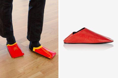mcdonalds fires shot balenciaga fry carton shoe mcdonald's