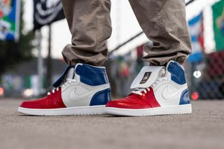 e2a92bdcced823 The Shoe Surgeon Commemorates France s World Cup Win With Custom Air Jordan  I
