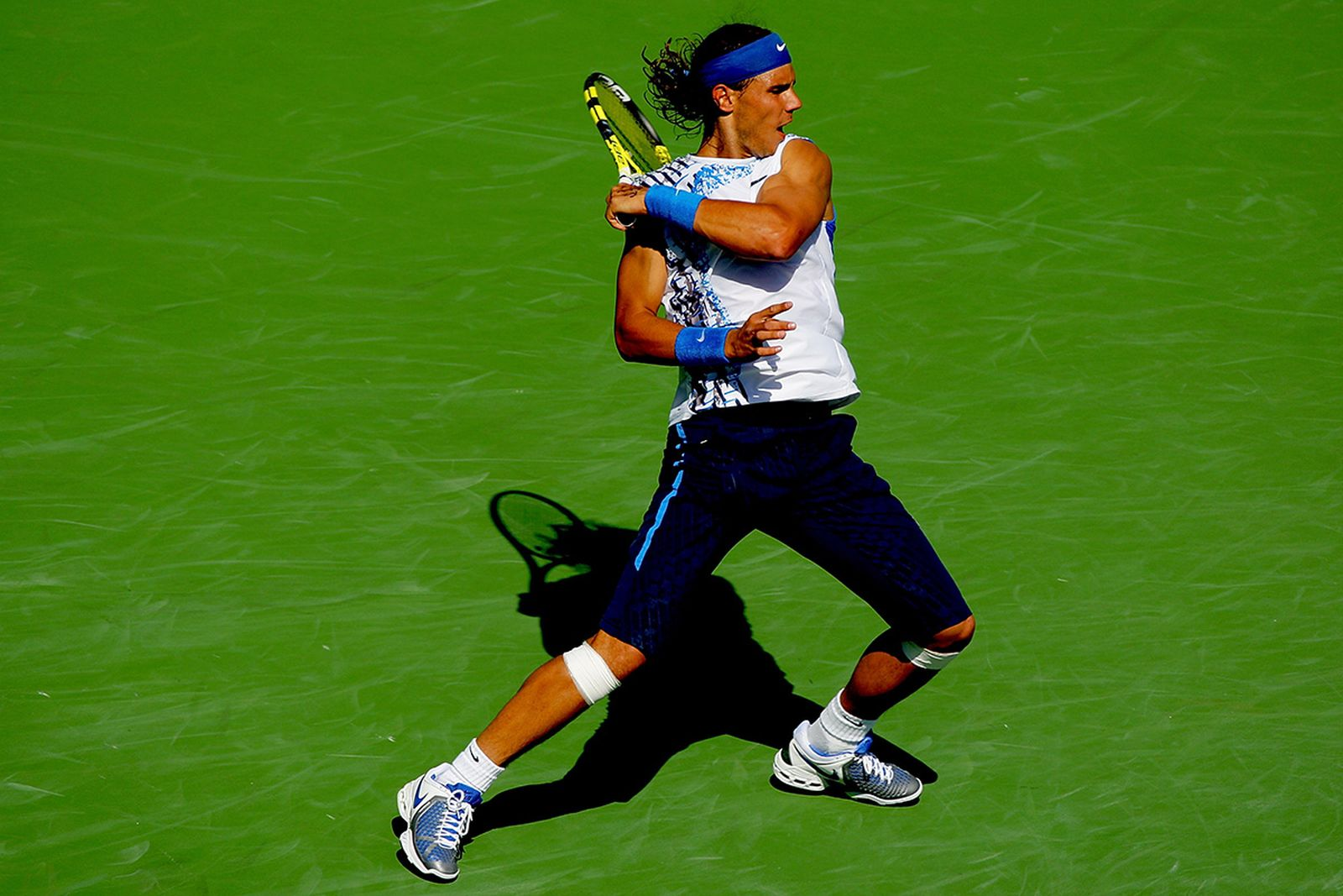 Nadal rocking his quintessential look, Indian Wells 2008