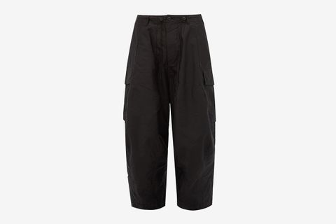 Cotton-Twill Wide-Leg Cargo Trousers