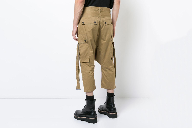 Cropper Harem Cargo Pants