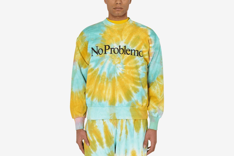 No Problemo Tie Dye Crewneck Sweatshirt
