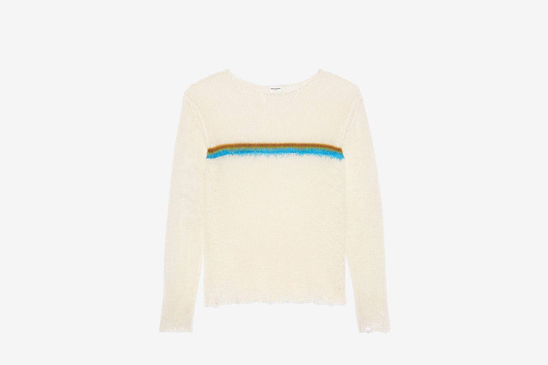 Destroyed Knit Stripe Sweater