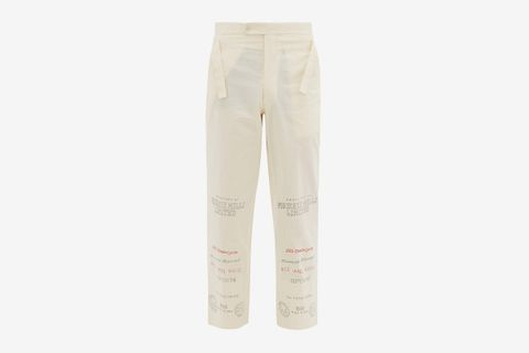 Mill Print Cotton Trousers