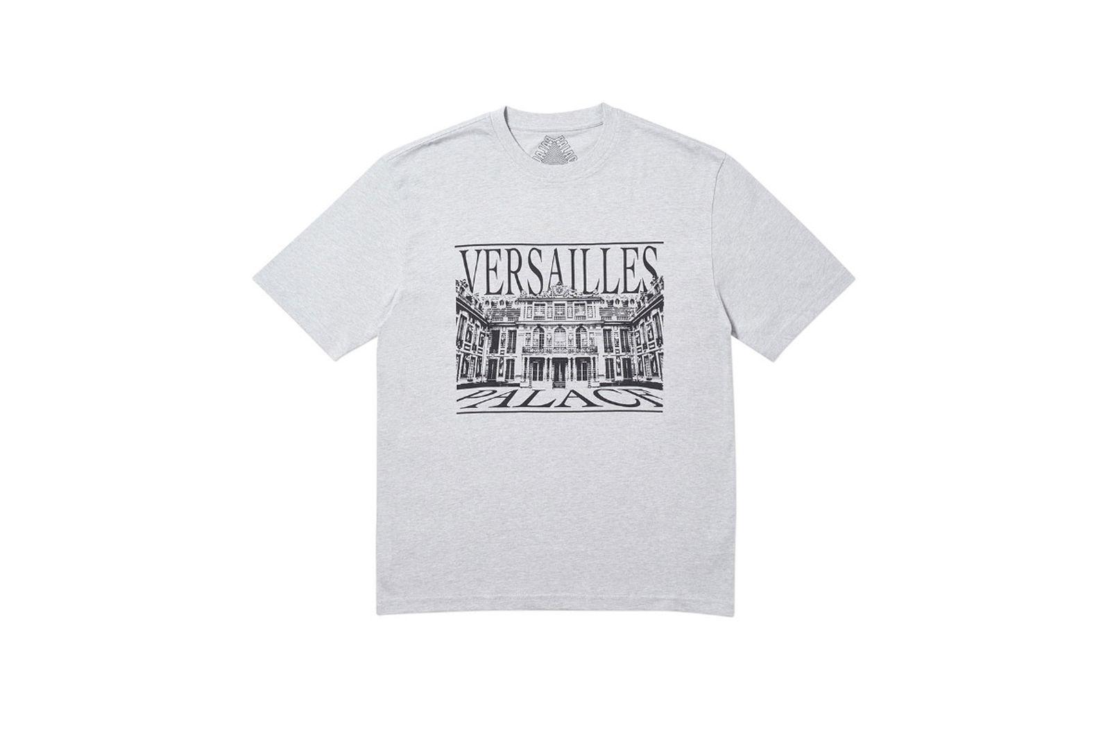 Palace 2019 Autumn T Shirt Versailles grey marl