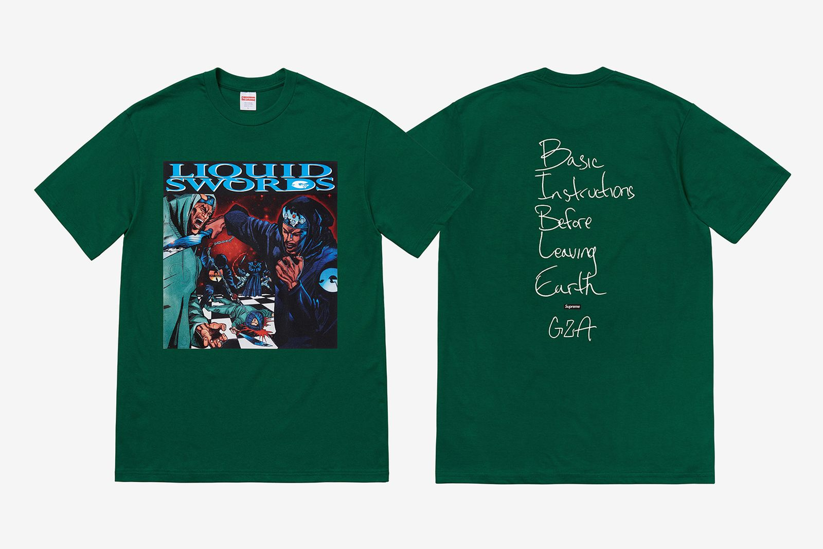 supreme fall 2018 tees Tabboo! gza