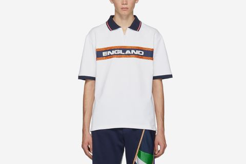 Beaded 'England' Polo