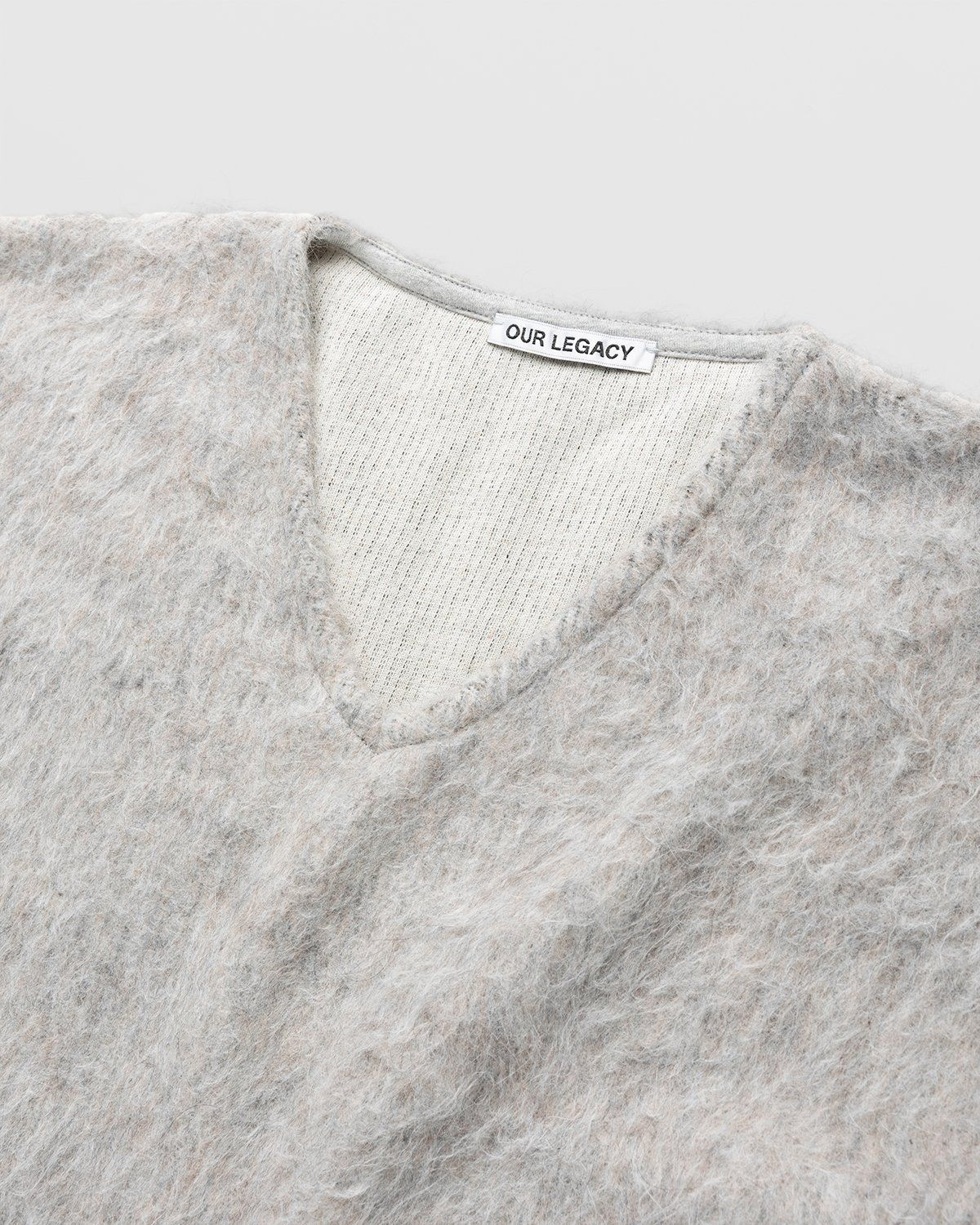 Our Legacy - Double Lock Sweater Grey Alpaca - Image 3