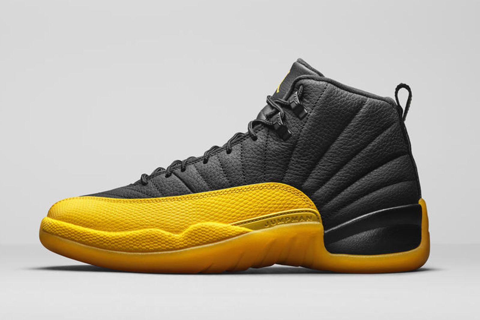 Jordan Brand Fall 2020 sneaker lineup Air Jordan 12 black yellow