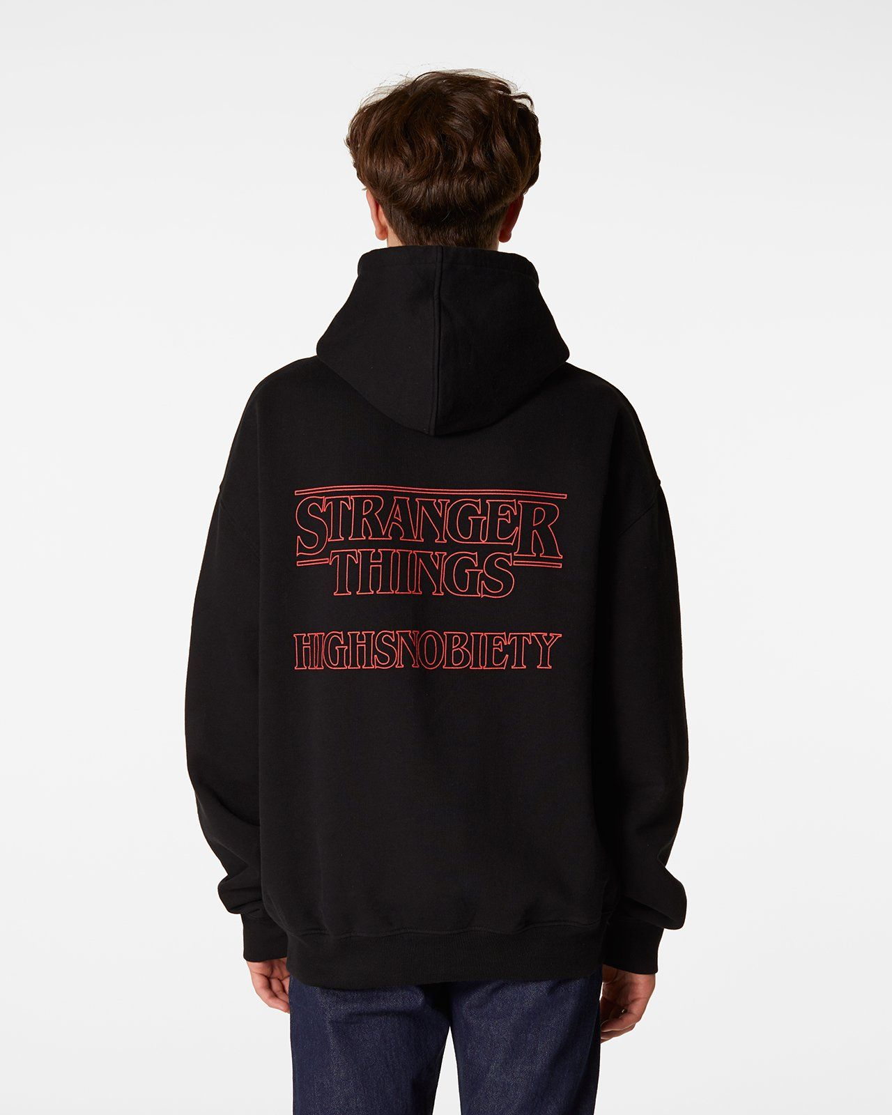 Stranger Things 3 x Highsnobiety Logo Hoodie - Black - Image 7