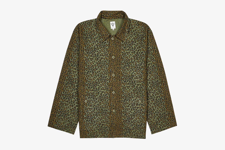 Leopard-print Brushed Cotton Shirt