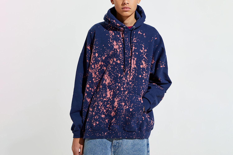 Bleach Splatter Hoodie Sweatshirt
