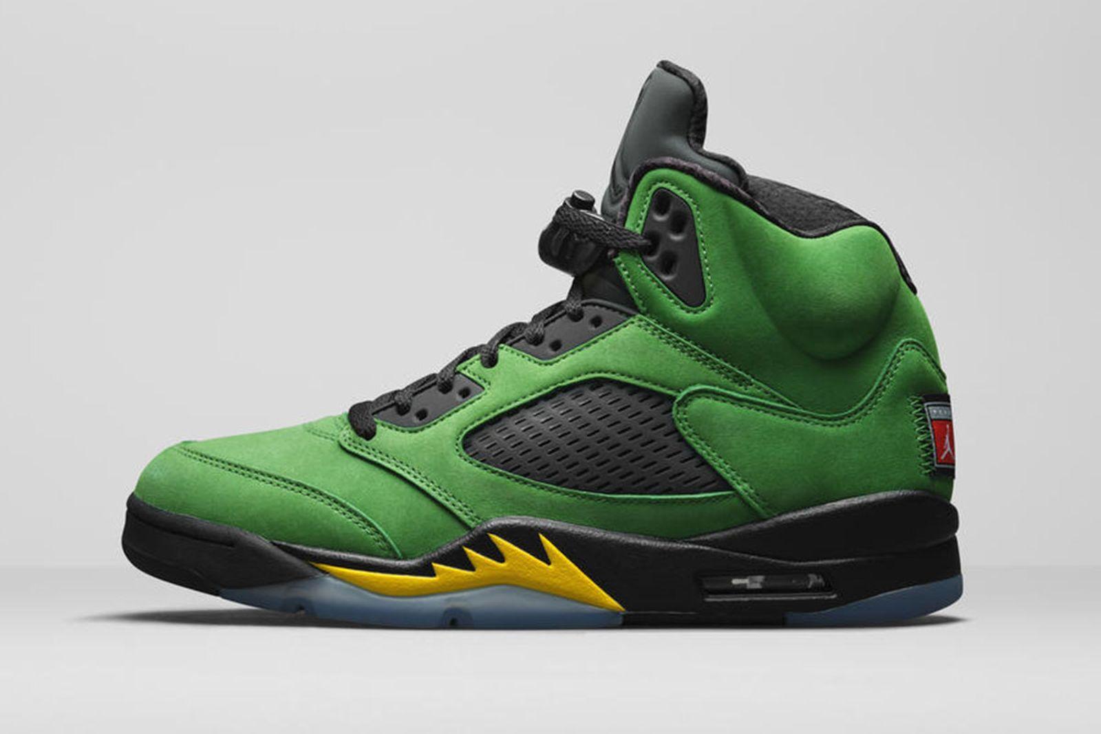 Jordan Brand Fall 2020 sneaker lineup Air Jordan 5 Oregon Ducks