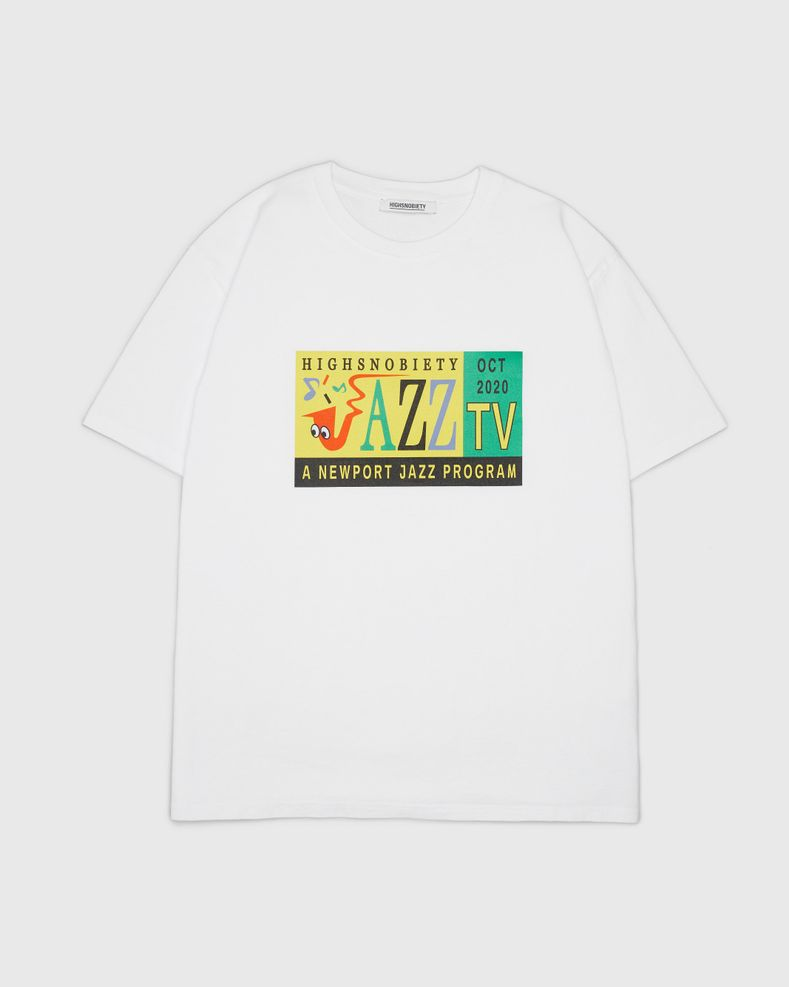 Highsnobiety — Jazz TV Staff T-Shirt White