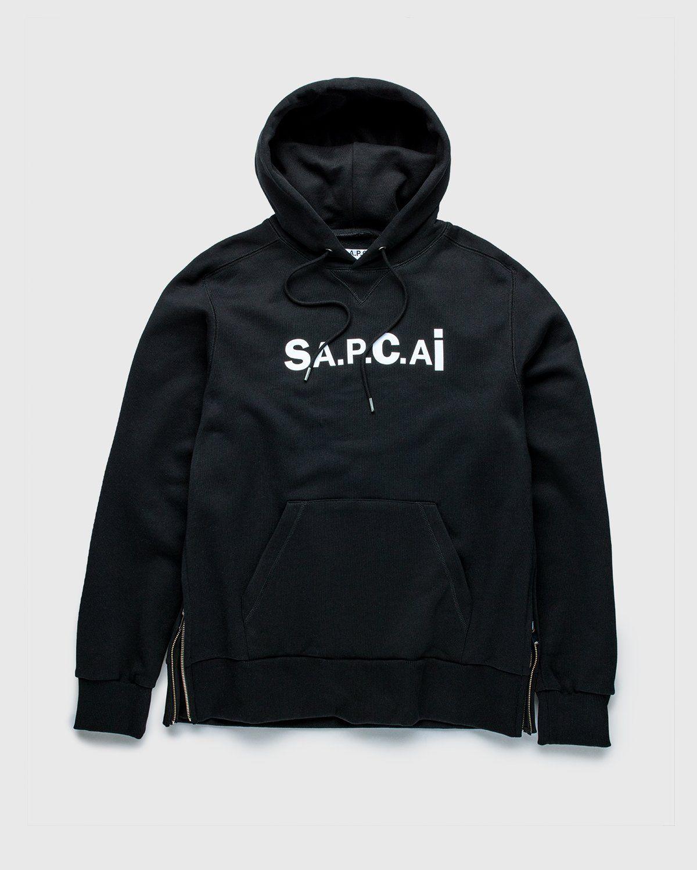 A.P.C. x Sacai — Taiyo Hoodie Black - Image 1