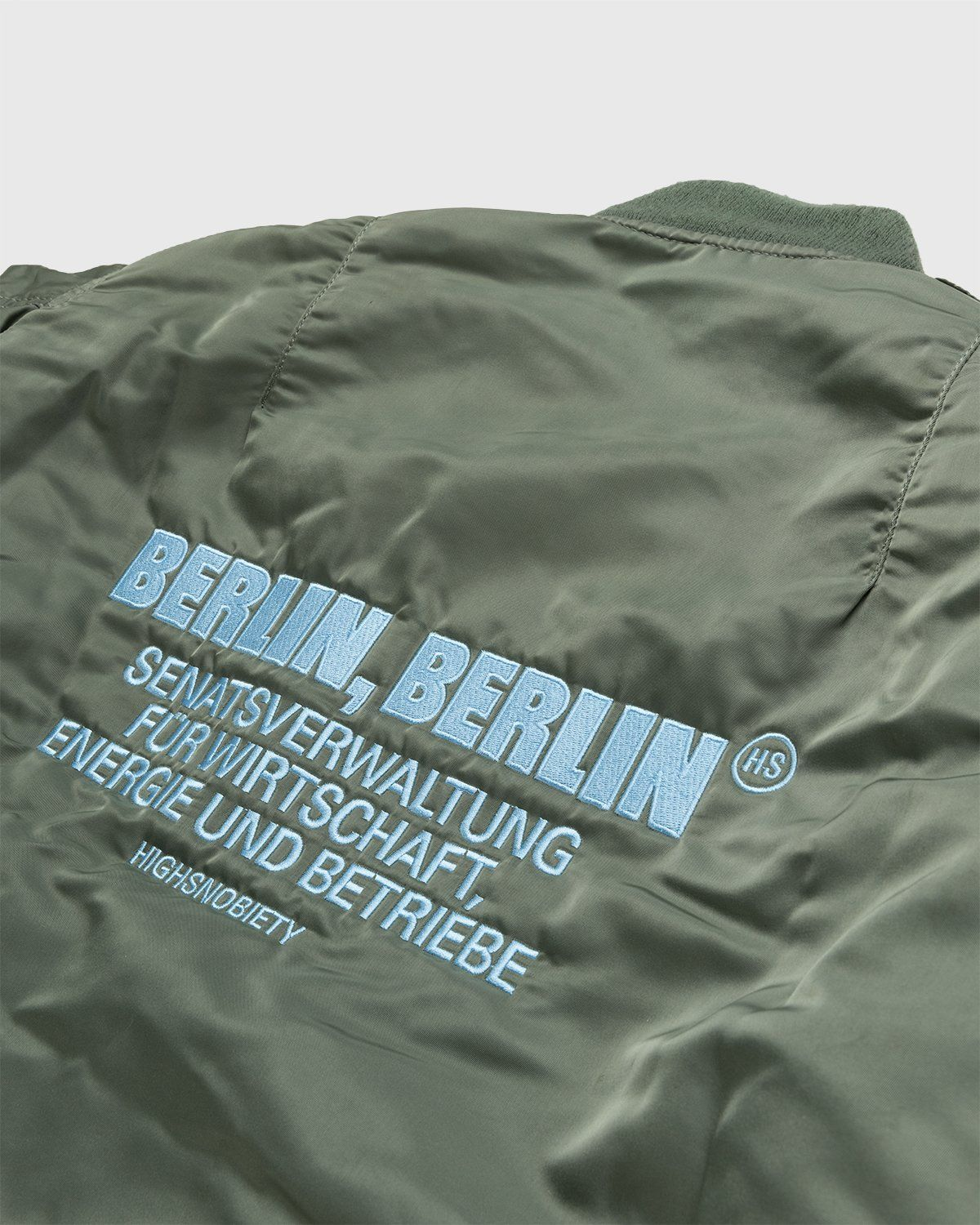 Highsnobiety – Berlin Berlin Embroidered Vintage MA-1 Green - Image 3