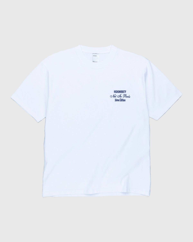 Highsnobiety — Not In Paris 3 Tour Eiffel T-Shirt White - Image 2