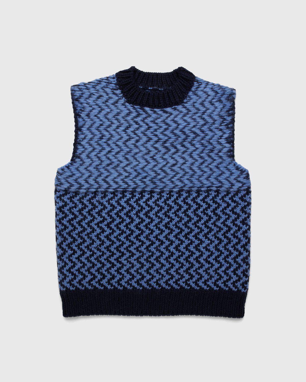 Jil Sander – Vest Kitted Blue - Image 1