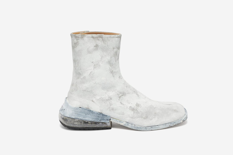 Tabi Airbag Heel Split-Toe Leather Ankle Boots