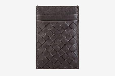 Intrecciato Money Clip Card Case