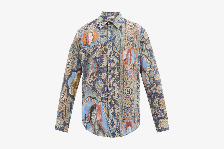 Portrait Paisley-Print Shirt