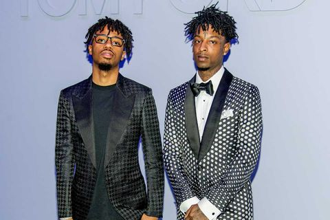 Metro Boomin and 21 Savage at the Tom Ford FW18 Men's Runway Show