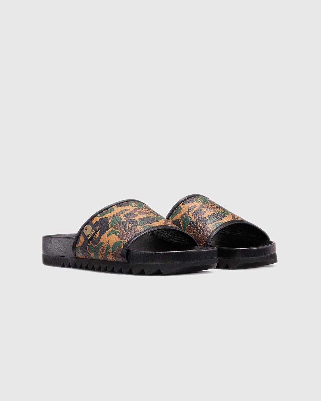 MCM x BAPE — Camo Slide Sandal Kamo Khaki - Image 2