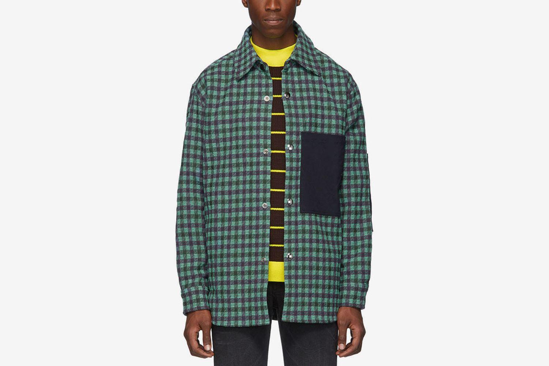 Plaid Wool Overshirt