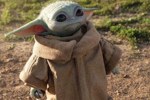 Baby Yoda life-size figure