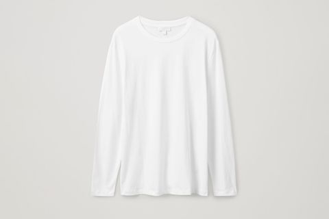 Long-Sleeved Brushed-Cotton T-Shirt