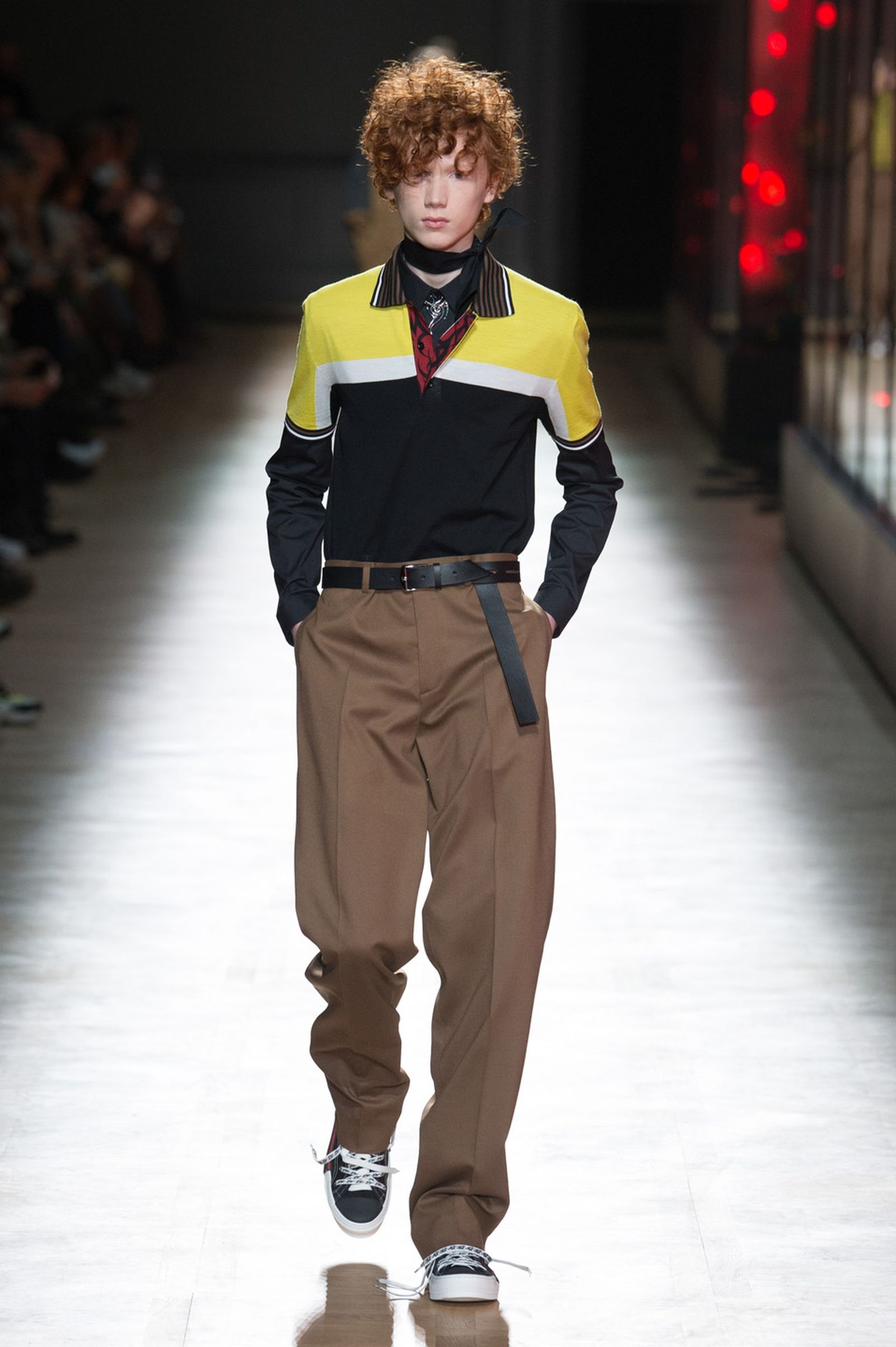 DIOR HOMME WINTER 18 19 BY PATRICE STABLE look34 Fall/WInter 2018 runway