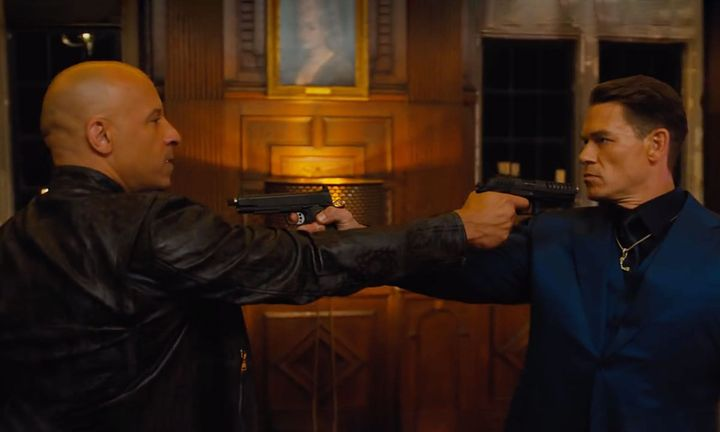 vin diesel and John cent face off in F9 trailer