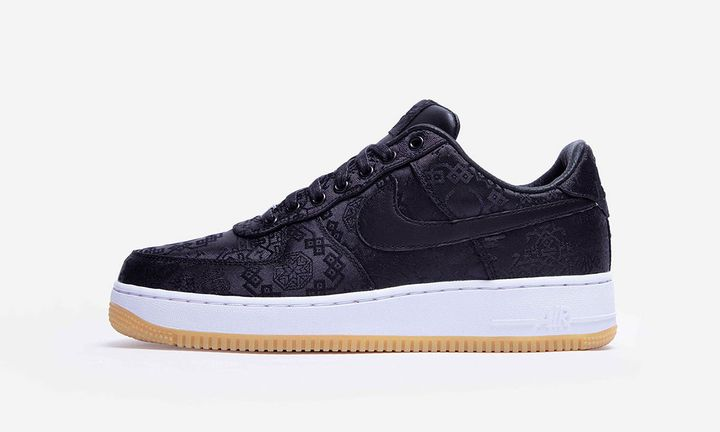 "CLOT x fragment design x Nike Air Force 1 ""Black Silk"""