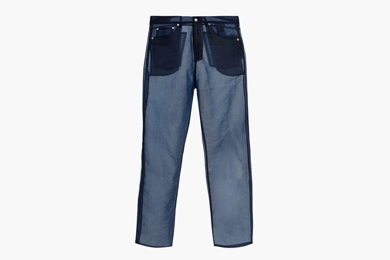Straight-Leg Organza Trousers