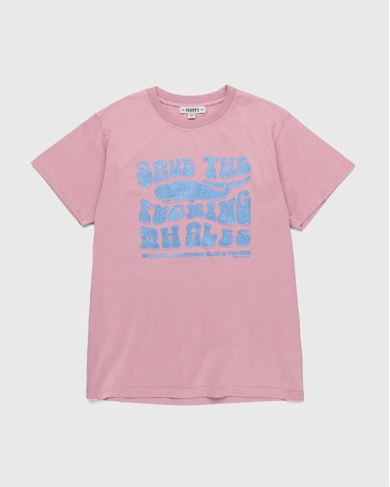 PHIPPS – Save The Fucking Whales T-Shirt Pink