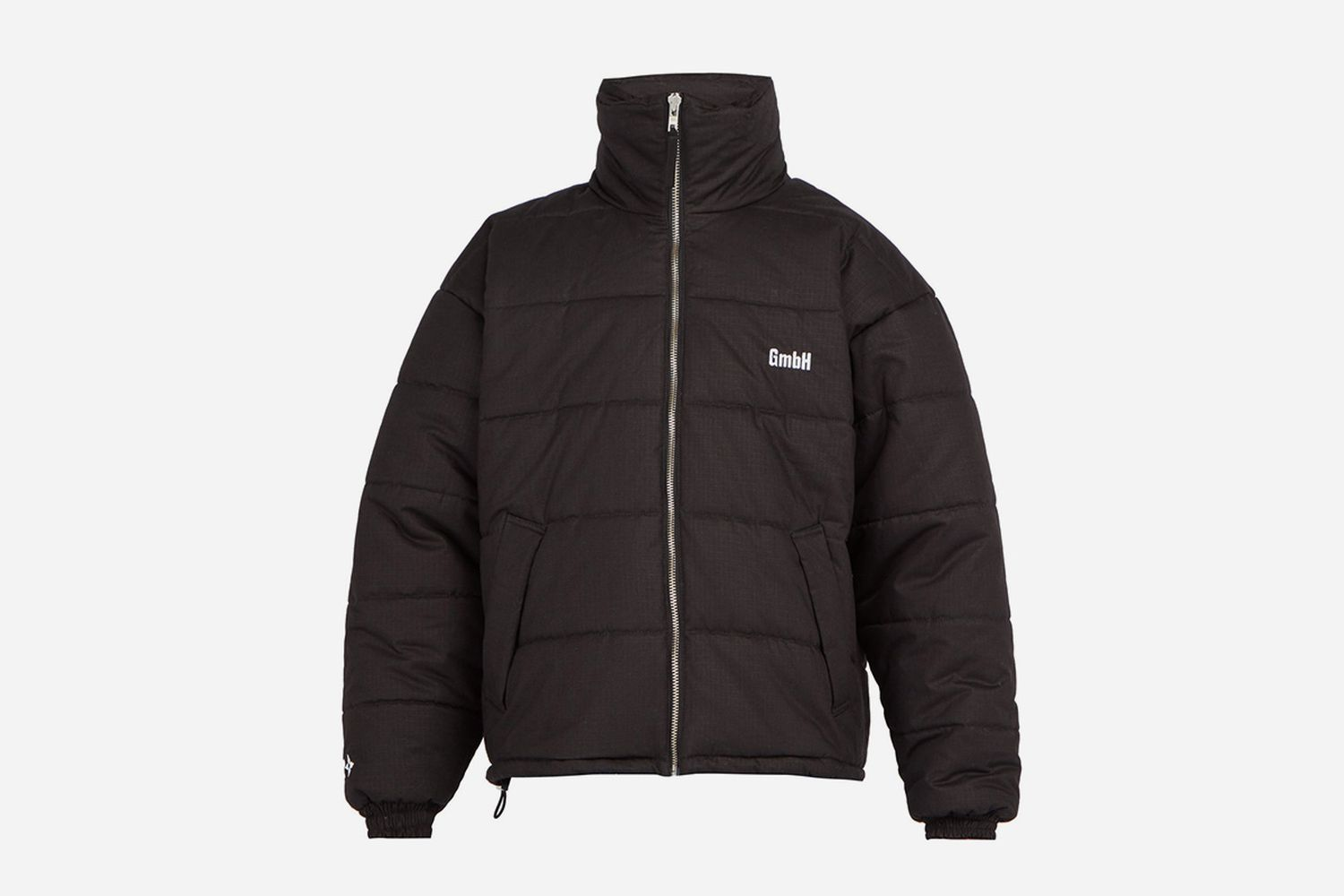 Debs logo-embroidered quilted jacket
